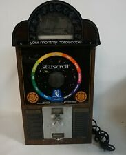 Vtg 1994 Starscroll Coin Operated Astrological Horoscope Vending Machine #AF64