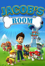 165 - PAW PATROL NAME PERSONALIZED DOOR WALL ROOM POSTER CUSTOMIZED