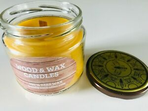 100 % PURE NATURAL  BEES WAX CANDLES IN JAR  GIFTS HIM /HER CRAFTED IN WALES UK