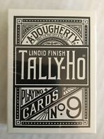 Tally-Ho - RARE BLACK - Fan Back - Playing Cards -    USPCC - Bicycle