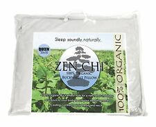 "Buckwheat Pillow- Organic Queen Size (20""X30"") w Natural Cooling Technology- All"
