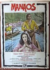MANAOS {Fabio Testi} Original Italian 2F Movie Poster 1980s