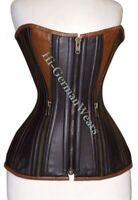 Halbbrust Korsett Schwarz Leder Corsage Gothic Halfbust Leather Corsets Hi-318