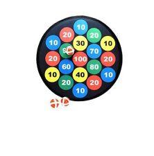 4PC  Kids Safe Dartboard 3 balls velcro Hangable dart board for kids Game Play