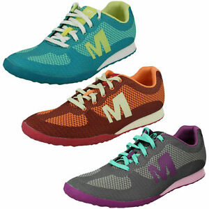 Ladies Merrell Light Wieght Lace Up Trainers Civet