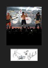RED HOT CHILLI PEPPERS #3 Signed Photo Print A5 Mounted Photo Print - FREE DEL