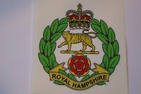 "2 X  ROYAL HAMPSHIRE REGIMENT  STICKERS  4"" BRITISH ARMY USA  MILITARY INSIGNIA"