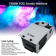 1500W FOG Smoke Machine Low Lying Dry Ice Stage Party Fogger w/Wireless Remote