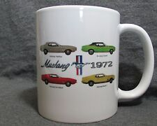 1972 Mustang Line Coffee Cup, Mug - New - Classic 1970's Ford - Sharp!