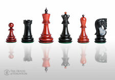 """The Zagreb '59 Prestige Luxury Chess Set - Pieces Only - 3.875"""" King - Blood Ros"""