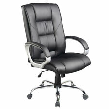 Executive Office Computer Chair PU Leather High Back 360 Swivel Tilt Seat 120kg
