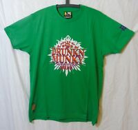 """NEW! Mens Drunknmunky Green """"Power of 9"""" Kung Fu T-Shirt Size Small Medium"""