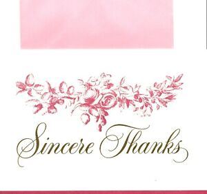 Pink Thank You My Sincere Thanks Theme Crown Hallmark Greeting Card