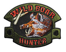 Wild Boar Hunter Embroidered Iron On Patch - Hunting Pig Hog  051-Q