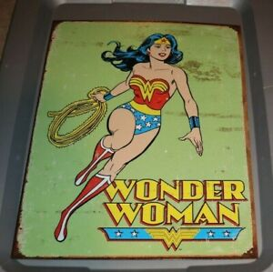 """WONDER WOMAN REPRO 12X16"""" TIN SIGN MADE IN USA"""