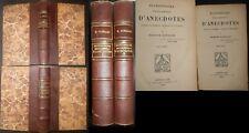 Dictionnaire Encyclopédique D'anecdotes Edmond Guérard-2 vol reliés-1929