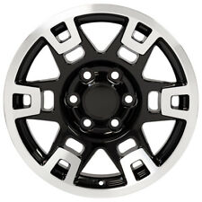 New 17x7 Inch Black Machined Wheel For 1996 2018 Toyota 4runner Fj Cruiser Fits 2004 Toyota Tundra