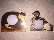 Warren Kimble Fat Cat Claire & The Calico Duck Picture Fetco Frames 4 3/4 X 5.5