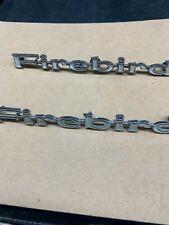 1967-69 Pontiac Firebird 400 HO Front Fender Emblems Name Badge GM  9796319