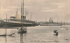 Victoria, BC. Postcard. The Twin Sisters In Harbour. Canada