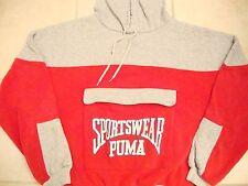 Vintage 90's Puma Sportswear Jogging Running Hoodie Hooded Sweatshirt L