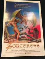 SORCERESS 1982 ORIGINAL MOVIE POSTER HORROR FANTASY 27X41 FOLDED Awesome P1