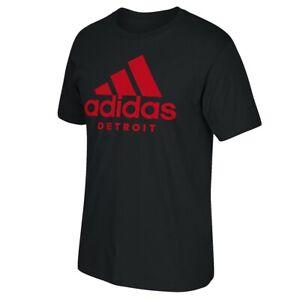 Adidas Men's City Detroit Black T-Shirt