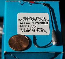100 MUSTAD NEEDLE POINT POWERLOCK HOOKS 4/0 #63