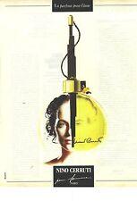 PUBLICITE ADVERTISING 1990   CERRUTI parfum pour femme par NINO