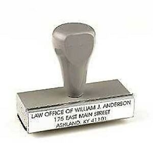 "4"" x 2""  CUSTOM RUBBER STAMP YOUR INFO ADDRESS LOGO BUSINESS HOBBY"