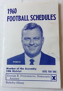 1960 Oakland Raiders, SF 49ers And Cal Bears Pocket  Schedule Scarce