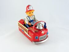 Battery Operated FIRE CHIEF CAR tin Modern Toys MT Japan Masudaya tin vintage FD