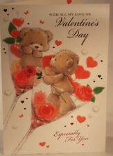 With All My Love on Valentine's Day Card 22.75cm x 15.25cm bears