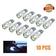 10X T10 CREE LED W5W 6 SMD LUZ DE ESTACIONAMIENTO LATERAL COCHE 5630 CHIP Canbus