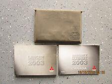 2003 - 03 MITSUBISHI LANCER USER OWNER MANUAL HANDBOOK GUIDE INFORMATION BOOK