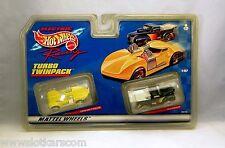 Tyco Mattel HotWheels 38099 Turbo Twinpack Blister double circuit ho slot car NB