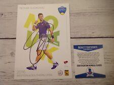 Novak Djokovic Signed Autographed 5x7 Player Card Beckett BAS COA d