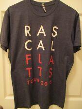 Vintage Rascal Flatts Riot Tour 2015 Concert Country T-Shirt Charcoal Medium