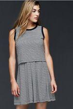 Gap Striped double layer Dress, Navy Stripe Sz XS