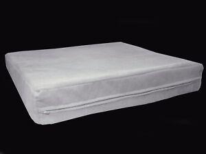 mb64t Light Grey Flat Velvet Style 3D Box Thick Sofa Seat Cushion Cover Custom