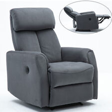Power Recliner Chair Suede Fabric Metal Structure Durable Motor Comfortable Sofa