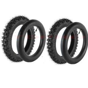 Pair 2.50-10 Tyres Tubes Set 2.50x10 For Dirt Bike Honda CRF50 XR50 PW50 TTR50