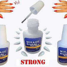 5x10g Nail Art Glue Brush Strong Adhesive Acrylic False Tips Rhinestones Glitter
