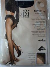 SiSi STYLE 20 , collant velato con elegante corpino ricamato cuciture comfort
