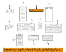 JAGUAR OEM 09-15 XF Labels-Fuel Label C2C34364