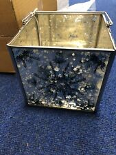 M&S Glass Mirror Snowflake Lantern £19.50 Christmas Xmas Candle Square