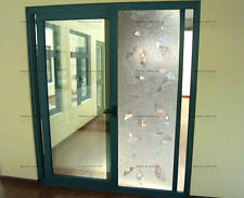 3D Laser Circles Clear Glass Privacy Window Film 2ft x 3ft Static Cling Reusable