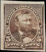VEGAS - 1890-93 USA Sc# 223P3 - Proof On India Paper Mint, No Gum - EC41