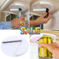 The Grip Glass Jar Openers for Under the Kitchen Cabinet Counter Lid Remover Aid