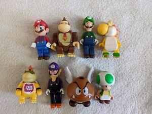 RARE Knex Super Mario figure Lot, Waluigi, Koopa, Baby Bowser, DK, Toad, Goomba